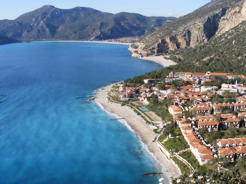 Three-beaches-in-the-holiday-resort-of-Oludeniz-Turkey