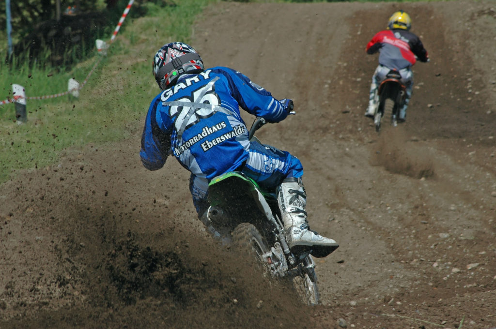 Motocross-action